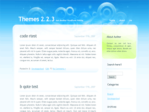 Glassy wordpress theme