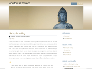 Buddhism wordpress theme